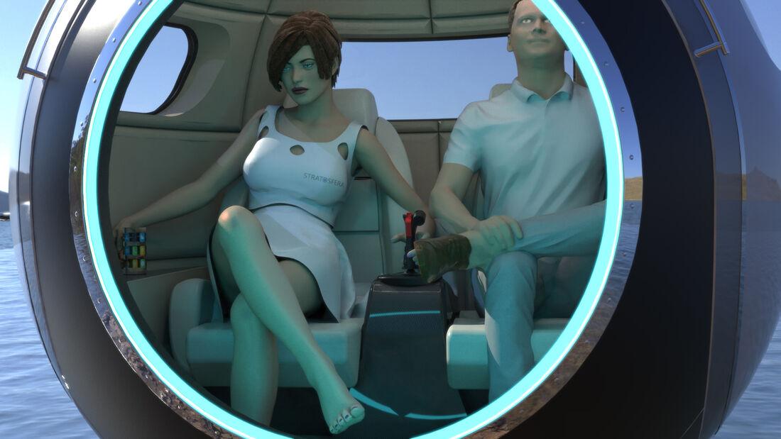 2022 1 - وسائل النقل المستقبلية..ستراتوسفيرا 2022 أول سيارة سيارة كرويه بريه وبحرية وفضائية